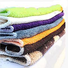 お買い得  キッチン清掃用品-耐油ぼろ純粋な色容易なクリーニングクロスツール、テキスタイル(ランダムカラー)