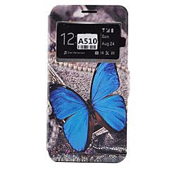 tanie Galaxy A5 Etui / Pokrowce-Kılıf Na Samsung Galaxy Samsung Galaxy Etui Etui na karty Odporne na kurz Odporne na wstrząsy Z podpórką Pełne etui Motyl Miękkie Skóra PU