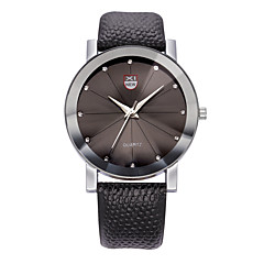 voordelige Herenhorloges-Heren Modieus horloge Kwarts / Leer Band Amulet Zwart Blauw Bruin
