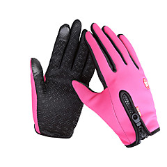 قفازات الدراجة قفازات التزلج قفازات اللمس للرجال للمرأة اصبع كامل الدفء مقاوم للماء ضد الهواء مضاد للانزلاق كنفا الصوف التزلج