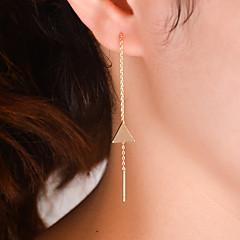 voordelige Damessieraden-Dames Druppel oorbellen - Sexy / Modieus / Eenvoudige Stijl Goud / Zilver Driehoek oorbellen Voor Dagelijks / Causaal