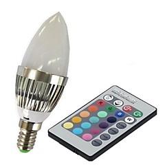 preiswerte LED-Birnen-3 W 100-230 lm E14 Smart LED Glühlampen C35 1 LED-Perlen Hochleistungs - LED Ferngesteuert RGB 85-265 V / 1 Stück / RoHs