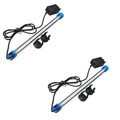 3W 4-Pin LED Aquarium Luci Tubolare 27 LED SMD 2835 Impermeabile Decorativo Luce fredda Blu 300-400 AC 110-130 AC 220-240V