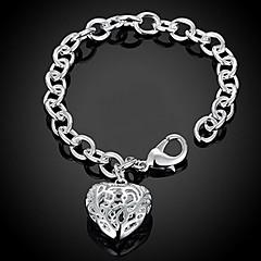 preiswerte Halsketten-Damen Ketten- & Glieder-Armbänder / Bettelarmbänder - Sterling Silber Herz, Liebe Personalisiert, Modisch Armbänder Silber Für Weihnachts Geschenke / Hochzeit / Party