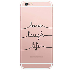 voordelige iPhone 6s Plus hoesjes-Voor iPhone X iPhone 8 iPhone 6 iPhone 6 Plus Hoesje cover Patroon Achterkantje hoesje Woord / tekst Hard PC voor Apple iPhone X iPhone
