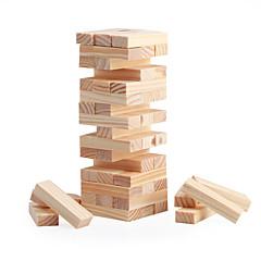 お買い得  ボードゲーム-ボードゲーム 木製ブロック スタッキングタワー おもちゃ 方形 ミニ クラシック 女の子用 男の子用 48 小品