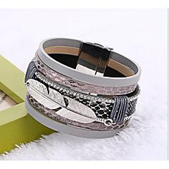 preiswerte Armbänder-Manschetten-Armbänder / Lederarmbänder - Quaste, Modisch Armbänder Rot / Blau / Hellbraun Für Weihnachts Geschenke / Hochzeit / Party