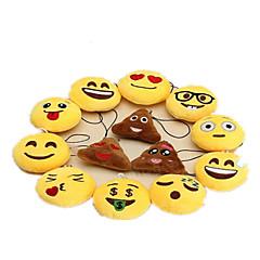 abordables Llaveros-Llavero Animales de peluche y de felpa Juguetes Llavero Circular emoji Textil Encantador 1 Piezas Chico Chica Navidad Día del Niño
