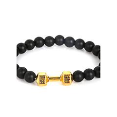 abordables Bijoux pour Femme-Homme Perles Bracelets de rive - Haltère Mode, Inspiration Bracelet Or / Noir / Gris / Argent / Gris Pour Regalos de Navidad Quotidien Décontracté