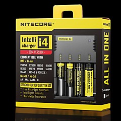 Nitecore I4 Chargers Adjustable Quick Charging High Quality for Lithium Ion Nickel Metal Hydride Nickel Cadmium 26650, 22650, 18650,