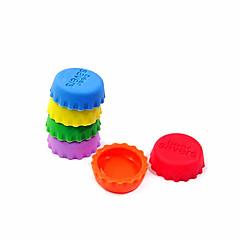 abordables Drinking Tools-creativo cubierta botella de gel de sílice tapa / conservación (6 piezas) - color al azar