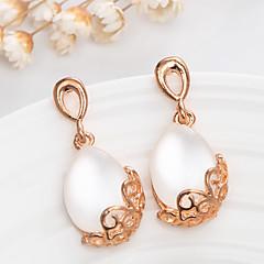 preiswerte Ohrringe-Damen Opal - vergoldet, Opal Retro, Modisch Gold / Weiß Für Hochzeit Party
