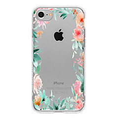 Mert iPhone 7 tok / iPhone 7 Plus tok / iPhone 6 tok Minta Case Hátlap Case Virág Puha TPU mert AppleiPhone 7 Plus / iPhone 7 / iPhone 6s