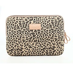 "10 ""11"" 12 ""13"" klassiske taske 14 ""leopard laptop sleeve notebook taske liner stødsikker til macbook / hp / dell / etc"