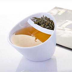abordables Tazas y vasos-tazas de inclinación de la taza de té de inclinación creativa con filtro magisso taza de té de caída oblicua de plástico