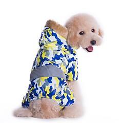 Gatos Perros Abrigos Saco y Capucha Mono Ropa para Perro Invierno Primavera/Otoño camuflaje Moda Mantiene abrigado Amarillo Azul