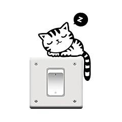 애니멀 / 휴일 / 레져 벽 스티커 플레인 월스티커 데코레이티브 월 스티커 / 라이트 Switch 스티커,PVC 자료 이동가능 홈 장식 벽 데칼