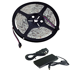 5M IP65 Waterproof 300LED 5050SMD Led Stripe Flexible String Ribbon Led Tape (DC12V)