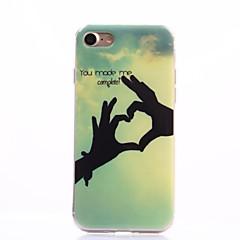 Для Кейс для iPhone 7 / Кейс для iPhone 7 Plus IMD Кейс для Задняя крышка Кейс для С сердцем Мягкий TPU Apple iPhone 7 Plus / iPhone 7