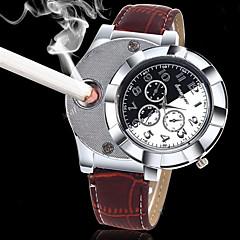 Męskie Modny Unikalne Kreatywne Watch Zegarek na nadgarstek Kwarcowy zapalniczka Punk Skóra PasmoPostarzane Na co dzień Kreatywne