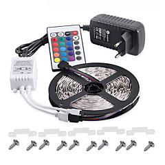 お買い得  LED ストリングライト-KWB 5m ライトセット 300 LED 3528 SMD RGB リモートコントロール / カット可能 / 調光可能 100-240 V / # / IP65 / 防水 / 接続可 / 車に最適