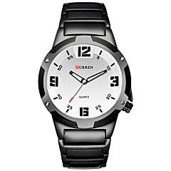 お買い得  大特価腕時計-CURREN 男性用 リストウォッチ 30 m カレンダー クール ステンレス バンド ハンズ ヴィンテージ カジュアル ファッション ブラック - ブラック レッド ブルー 2年 電池寿命