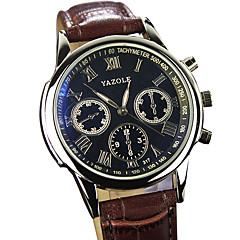 お買い得  大特価腕時計-YAZOLE 男性用 リストウォッチ クォーツ ホット販売 クール / PU バンド ハンズ カジュアル ブラック / ブラウン - ブラック Brown 1年間 電池寿命 / SSUO 377