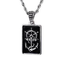 Муж. Ожерелья с подвесками анкер Нержавеющая сталь Мода Бижутерия Назначение Повседневные Новогодние подарки