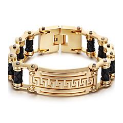 preiswerte -Herrn Ketten- & Glieder-Armbänder Modisch Edelstahl vergoldet 18K Gold Geometrische Form Schmuck Für Party Alltag Normal Weihnachts