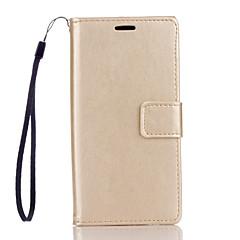 Πλήρης Σώμα πορτοφόλι / Βάση Καρτών / με Stand / Αναρρίπτω Culori solide Συνθετικό δέρμα Σκληρό Case Cover για το HuaweiHuawei P9 Lite /