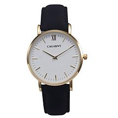 お買い得  大特価腕時計-CAGARNY 女性用 リストウォッチ クォーツ カジュアルウォッチ クール / レザー バンド ハンズ ヴィンテージ ファッション ミニマリスト ブラック / レッド / ブラウン - ブラック Brown レッド