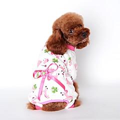 Χαμηλού Κόστους Ρουχισμός για γάτες-Γάτα Σκύλος Φόρμες Πυτζάμες Ρούχα για σκύλους Χαριτωμένο Καθημερινά Κινούμενα σχέδια Κίτρινο Μπλε Ροζ Στολές Για κατοικίδια