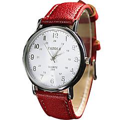 preiswerte Armbanduhren für Paare-YAZOLE Damen Paar Armbanduhr Quartz Armbanduhren für den Alltag Cool / PU Band Analog Retro Freizeit Schwarz / Weiß / Rot - Schwarz Braun Rot