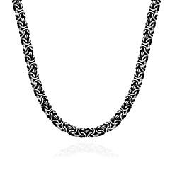 Муж. Ожерелья-цепочки Геометрической формы Нержавеющая сталь Титановая сталь Панк Хип-хоп Бижутерия Назначение Halloween Для улицы
