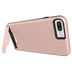 Til iPhone X iPhone 8 iPhone 7 iPhone 7 Plus iPhone 6 Etuier Kortholder Stødsikker Med stativ Bagcover Etui Rustning Hårdt PC for Apple