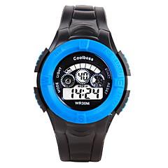 Homens Infantil Relógio Esportivo Relógio de Moda Relogio digital Digital / Silicone Banda Casual Preta