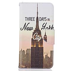Для Кейс для iPhone 7 / Кейс для iPhone 7 Plus / Кейс для iPhone 6 Бумажник для карт / С узором Кейс для Чехол Кейс для Панорама города