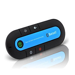 abordables Audio para Coche-Kit de Coche Bluetooth inalámbrico bluetooth kit de manos libres para automóvil magnética delgada aux altavoz del teléfono visera clip de