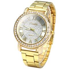 Homens Relógio Elegante Relógio de Moda Simulado Diamante Relógio Quartzo / imitação de diamante Aço Inoxidável Banda Vintage Casual