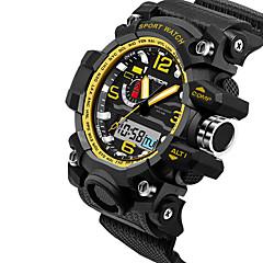 preiswerte Tolle Angebote auf Uhren-SANDA Herrn Japanischer Quartz Armbanduhr Smartwatch Sportuhr Chronograph Wasserdicht LED Nachts leuchtend Stopuhr Duale Zeitzonen Silikon