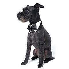 Hond Stropdas/Vlinderdas Hondenkleding Schattig Bruiloft Strik Wit Zwart Oranje Geel Groen Kostuum Voor huisdieren