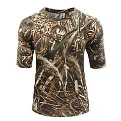 Tricou Camuflaj Vânătoare Antistatic Respirabil Limită Bacterii Unisex Manșon scurt camuflaj Tricou Topuri pentru Camping & Drumeții