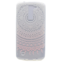 For LG K10 K8 Transparent Pattern Case Back Cover Case Flower Soft TPU K7 Nexus 5X X Power