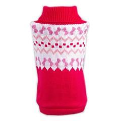 billige Kat Tøj-Kat Hund Bluser Jul Hundetøj Farveblok Rød Akryl Fibre Kostume For kæledyr Herre Dame Afslappet / Hverdag Nytår