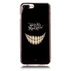 Недорогие Кейсы для iPhone 7-Кейс для Назначение Apple iPhone 6 iPhone 7 Plus iPhone 7 С узором Кейс на заднюю панель Черепа Мягкий ТПУ для iPhone 7 Plus iPhone 7