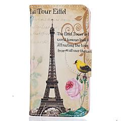 Недорогие Чехлы и кейсы для LG-Кейс для Назначение LG K8 LG LG K10 LG K7 Бумажник для карт Кошелек со стендом С узором Чехол Эйфелева башня Твердый Кожа PU для