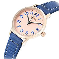 お買い得  メンズ腕時計-KEZZI 女性用 ファッションウォッチ / リストウォッチ クール / / レザー バンド カジュアル ブラック / ブルー / グレー
