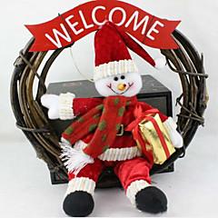 karácsonyi koszorú 25 cm santa hóember karácsonyi díszek