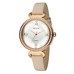 preiswerte Tolle Angebote auf Uhren-Vilam Damen Armbanduhr Wasserdicht Leder Band Luxus / Glanz / Modisch Weiß