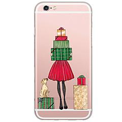 Назначение iPhone X iPhone 8 iPhone 7 iPhone 6 Кейс для iPhone 5 Чехлы панели Ультратонкий Полупрозрачный Задняя крышка Кейс для Рождество